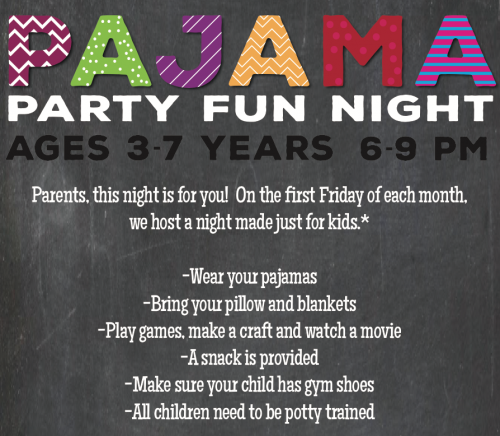 Pajama Party Fun Night