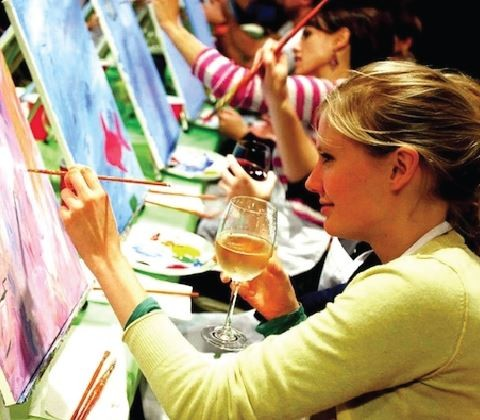 Wine and Paint Night